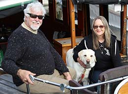 Mark and Jools at the Careel Bay Wooden Boat Festival