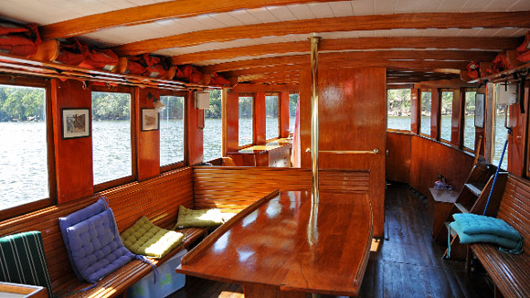 Interior looking towards the bow