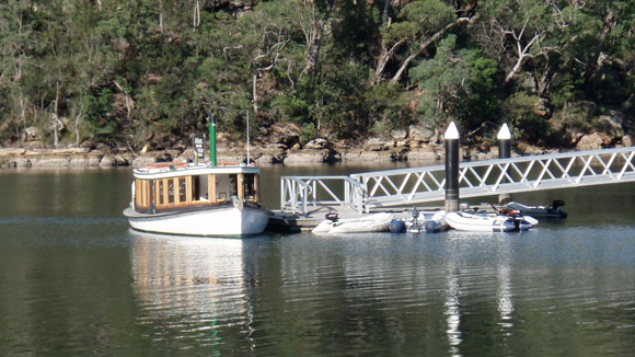 MV Reliance at the Bobbin Head Wharf