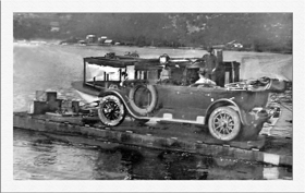 Reliance ferries the first car to drive to Gosford (a 1923 Buick) 1925